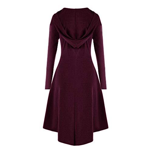 Mode Tops Vin Capuche Manteau Trench Outwear Steampunk coat Veste Rétro Gothique Casual Blazer À Solides Du Robes Blouson Femmes Jacket Lacer 61Rnwx8Rq