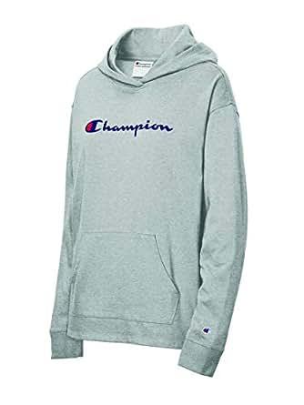 Champion Womens W4909 Heavyweight Jersey Pullover Hoodie Long Sleeve Shirt - Multi - X-Small