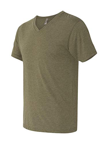 Next Level Men's Tri-Blend V (Military Green) -