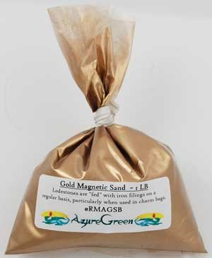 Azure Green RMAGSB 1 Lb Gold Magnetic Sand - Lodestone Food by AzureGreen