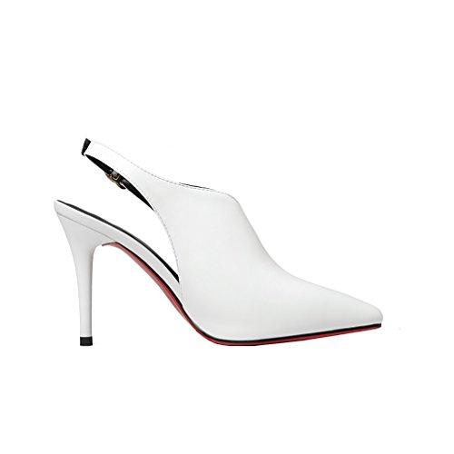 On Women Shoes UK Heel 5 Slip 12CM Vaneel White 4 qcfusp Court Cone Toe Open q1w84d