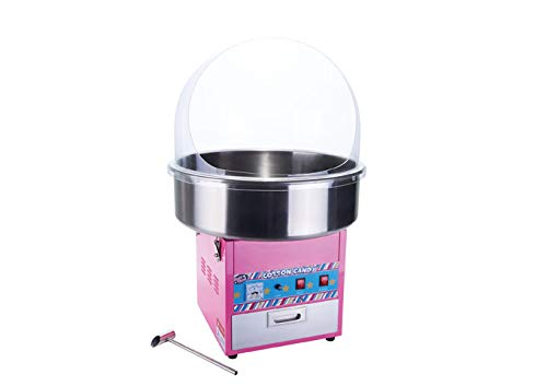 Winco CCM-28, Show Time Electric Cotton Candy Machine With 20.5'' Stainless Steel Bowl, 1080W, Cotton Candy Maker