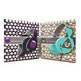 N Themed Costumes (Emoji Poop & Purple Horn Devil Emoji Print Folding Fatheads Headphones, Bundle of 2)