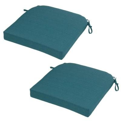 - Hampton Bay Mediterranean Solid Rapid-Dry Deluxe Outdoor Seat Cushion (2-Pack)