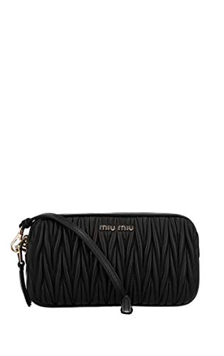 Miu Miu Women's 5Nf011n88f0002 Black Leather Shoulder Bag ()
