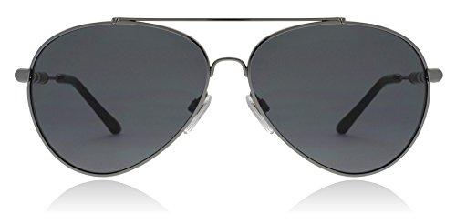 Burberry BE3092Q 100387 Gunmetal BE3092Q Pilot Sunglasses Lens Category 3 ()