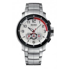 Hugo Boss Men's 1512367 HB230 Chronograph Silver Dial Stainless-Steel Watch
