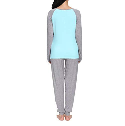 nine bull Pajamas for Women Long Sleeve Sleepwear Ladies Soft PJ Sets (S-XXL e5a89be61