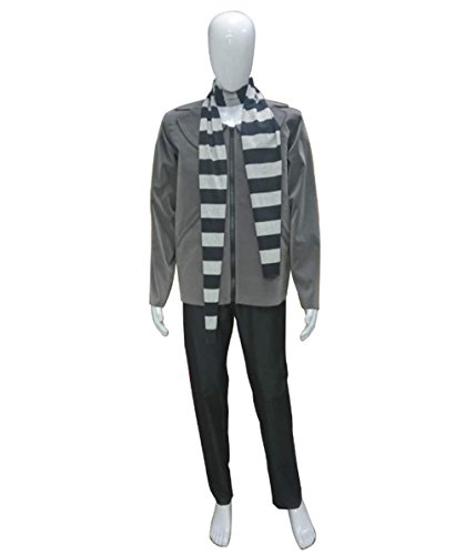 Halloween Party Online Men's Gru Costume, Black Large