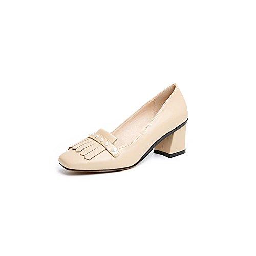 Chaussures tête taille confortables UK4 des à carrée hauts à Escarpins CN36 chaussures avec talons XUERUI EU36 q5tUSS