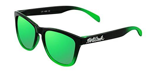 Northweek BLACK POLARIZADA sol amp; GREEN GREEN SHINE de GRADIANT UNISEX Gafas qpFaEE