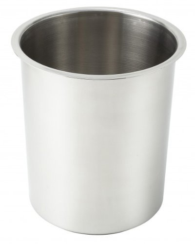 Crestware Commercial Grade, BM06, 6 Quart Stainless Steel Bain Marie, Quantity of 3