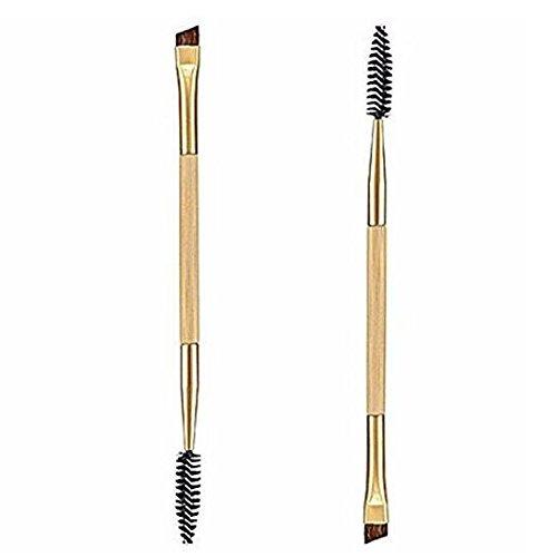 Doppia seitiger sopracciglio pennello, iSuper Make Up pennello per sopracciglia e ciglia Spiral Spazzola