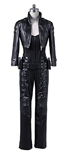 Xiao Maomi Womens Cool Cosplay Costume Outfit Black Jacket Corset Pants (Custom-Made, (Custom Costumes Corset)