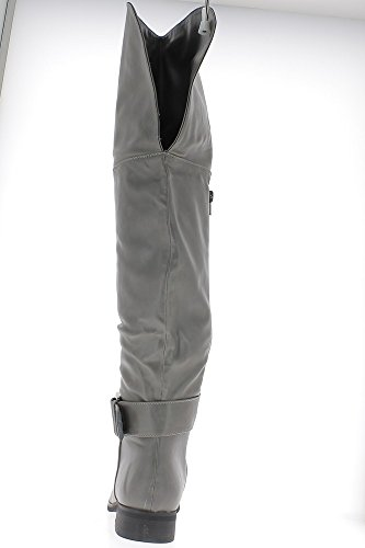 Gris botas de tacón de 3cm forrado