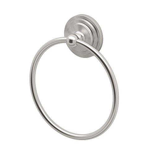 Gatco 5846 Marina Towel Ring, Satin (Brass European Towel Ring)
