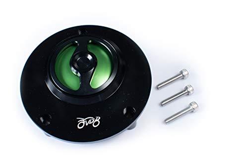 Benzine-klep, 1/4 rotatie, snelsluiting, compatibel met R1/R6/R3/MT/XJR/FJR/TDM/fazer (groen)