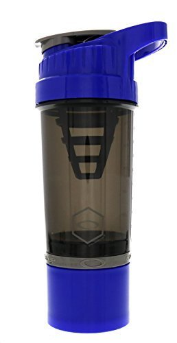 """Cyclone Cup - Shaker Bottle For Powder, Protein Shaker With Secure-Lock And Tight-Sealed Lid For """"No Leak"""" Protection Dark Blue"""