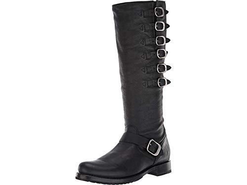 FRYE Women's Veronica Belted Tall Knee High Boot, Black, 8 M US by FRYE