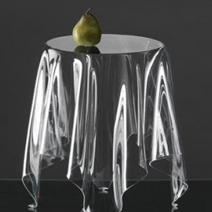 Tisch Illusionary transparent, Mega design für Essey John Brauer