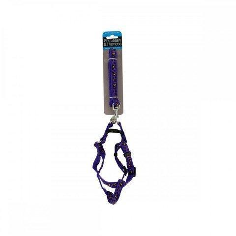 Kole KI-OF888 Cheetah Print Dog Leash & Adjustable Harness, One Size