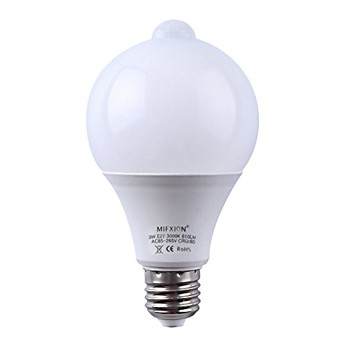 motion sensor light sensor bulb 9w 810lumens e27 base. Black Bedroom Furniture Sets. Home Design Ideas