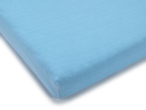 Julius Zöllner 8330013350 - Spannbetttuch Jersery für die Wiege, Größe: 90 x 40 cm, Farbe: hellblau