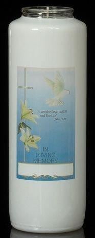 6-day in Loving Memory Glass Bottle -