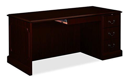 94000 Series Kneespace Credenza (HON 94243NN 94000 Series 72 by 24 by 29-1/2-Inch Kneespace Credenza, Mahogany Frame/Top)