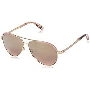 Kate Spade Women's Amarissa Aviator Sunglasses, Gold Pink/Gold Gradient Pink, 59 mm