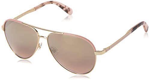 Kate Spade Women's Amarissa Aviator Sunglasses, Gold Pink/Gold Gradient Pink, 59 mm
