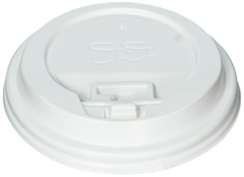 Gogo Reclosable Tear Tab Hot Cup Dome Lids, White (Tear Tab Lid)