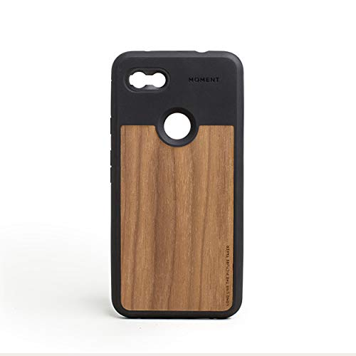 Pixel 3aXL Case || Moment Photo Case in Walnut Wood - Protective, Durable, Wrist Strap Friendly case for Camera Lovers.