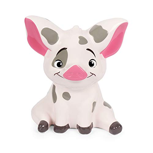 Moana Pua Pig Money Bank Figual Ceramic with Rubber Stopper (Bank Character Disney)