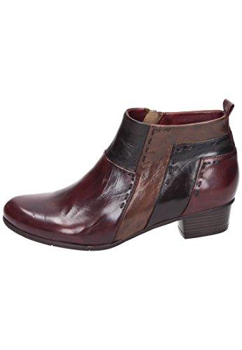 Piazza Piazza Damen Stiefelette - Botas de Piel para mujer negro negro Rojo