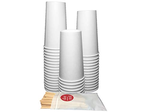 Pack Each) 20oz. Coffee Cup - Leak Resistant Paper Hot Cup 420W-2050, Dot Red 7