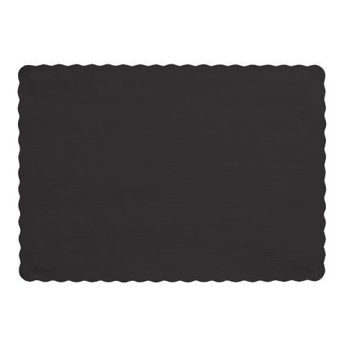Creative Converting 50 Count Touch of Color Paper Placemats, Glittering Gold