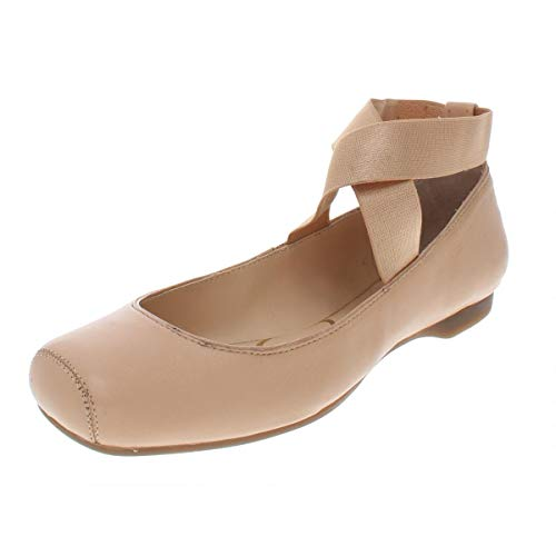 Jessica Simpson Women's Mandalaye Ballet Flat,Natural Leather,US 12 M