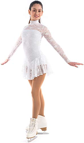 In New Fashion Sagester Style149 Italian Lace Figure Skating Dress With Crystals Red Small Exquisite Workmanship