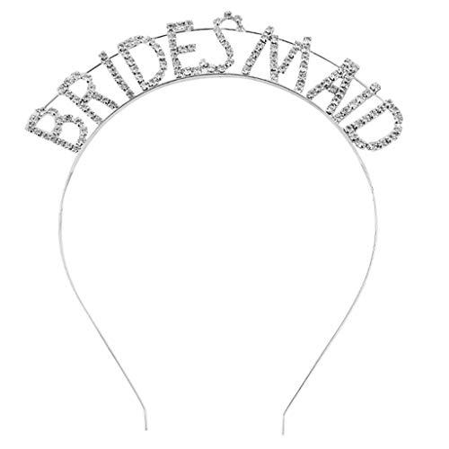 Rhinestone Letters Band - ballboU-Wedding Metal Alloy Headband Glitter Rhinestone Hollow Out Letters Bridesmaid Bridal Tiara Crown Bachelorette