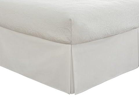 Fresh Ideas Tailored Poplin Bedskirt 14-Inch Drop Twin, White (Bedskirt For Twin Bed)