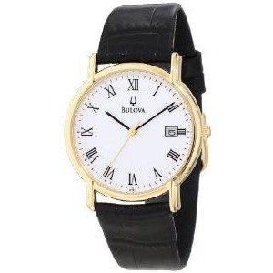 腕時計 ブローバ Bulova Men's 97B13 Black Tortoise Shell Leather Strap Watch【並行輸入品】 B00PFN6PTM