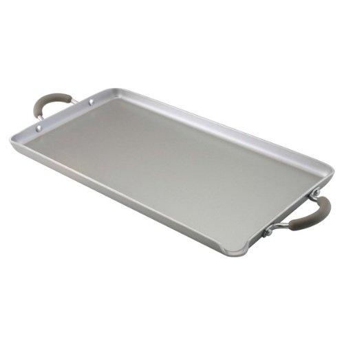Farberware Specialties Nonstick Aluminum 18-Inch x 10-Inch Double Burner Griddle, Platinum