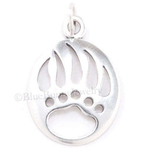 (OutletBestSelling Beads Bracelet Bear PAW Claw Charm Pendant Print South Western Native Solid Sterling Silver)