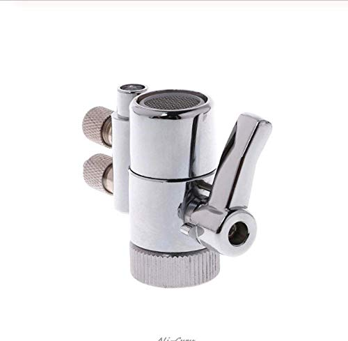 Rhdzsw Chrome Plated Metal Faucet Aerator Dual Diverter Adapter For Water Purifier Oral Irrigator Accessories Valve Switch