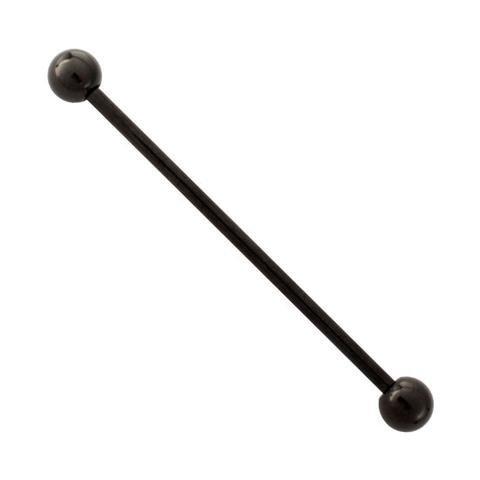 Black Titanium Barbell - 1