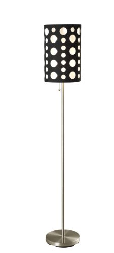 SH Lighting Retro Dual Shade Floor Lamp - Features Black Outer Shade & White Inner Shade - 62