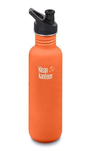 Klean Kanteen 27oz Classic Stainless Steel Water Bottle with Klean Coat, Single Wall and Leak Resistant Sport Cap 3.0 - Sierra ()