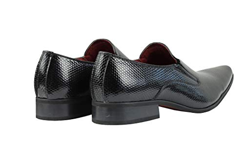 Negro Mocasines London Hombre Xposed Para 57FxIRnAA