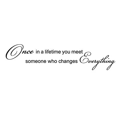 Once In A Lifetime You Meet Someone Who Changes Everthing Vinyl Wall